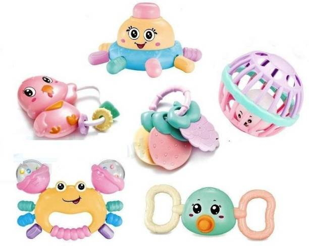 Nizomi Colorful Soft Rattle Toy For Baby Made In Safe Non-Toxic, Attractive Rattle For New Born Baby , Rattle