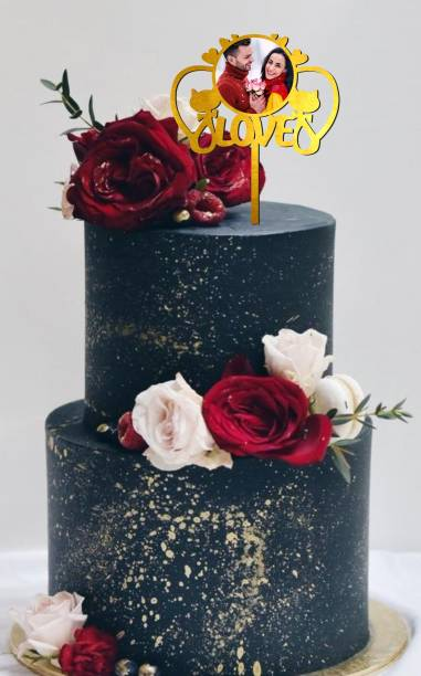 Creatick Studio Love Photo Cake Topper For Your Partner to celebrate a Special Day Party Cake Decorations_CT186 Cake Topper