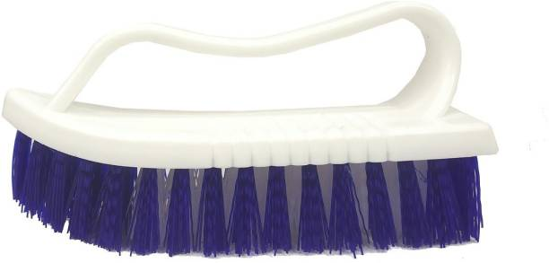 De-Ultimate Multipurpose Tiles Cleaning Brush with Handle for Cleaning Bathroom Kitchen Stove Bathtub Sink Wall Surface Microfibre Wet and Dry Brush
