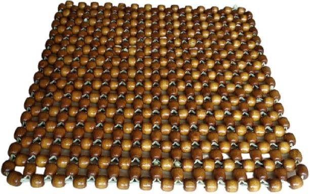 Q1 Beads Wooden Bead Seating Pad For  Hyundai, Maruti Suzuki, Ford, Tata, Jeep, Honda, Toyota Alto, Swift Dzire, Baleno, Swift, Celerio, Ciaz, i10 Active, WagonR, Eeco, Brio, Corolla Altis, Grand i10, Etios, Indica, Polo, Kwid, Santro, Omni, Verito