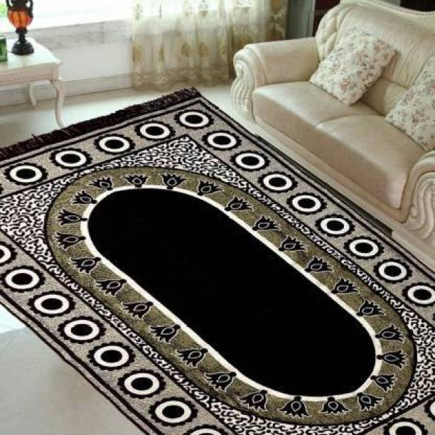 Kamboj Handloom Black Cotton Carpet