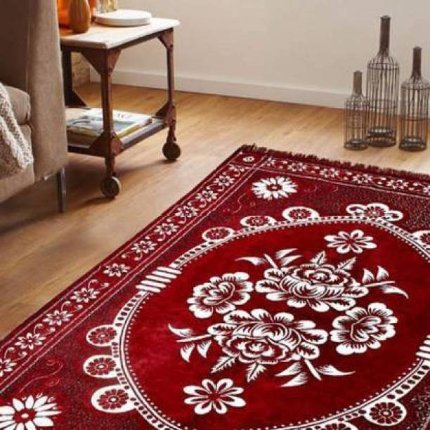 Dushanj Furnishings Red Cotton Carpet