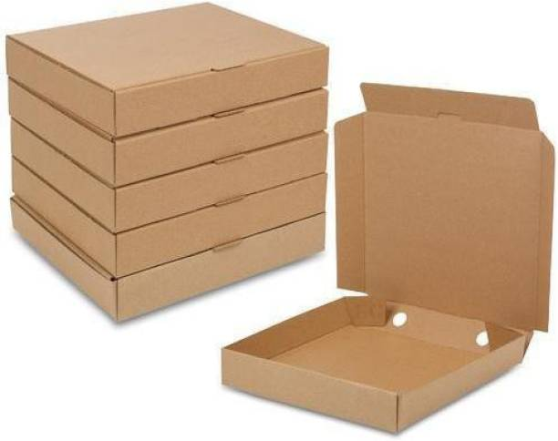 Varda Triple Wall Carton Paper 12 inches 25 Brown Pizza Boxes Packaging Box