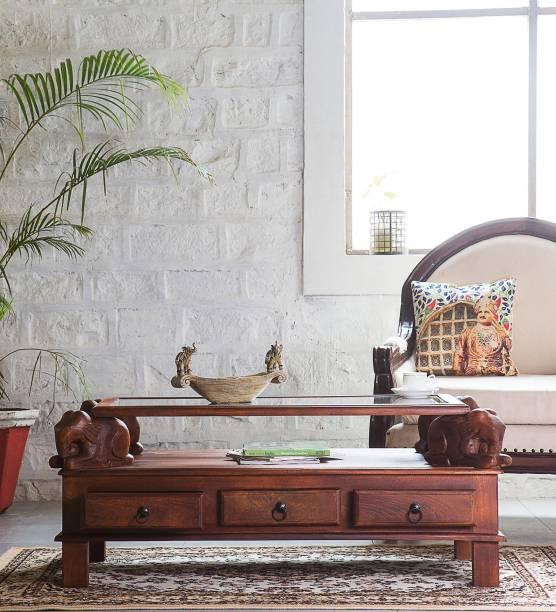 Balaji Wooden Glass Coffee Table