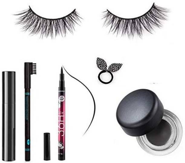LOVE YOU MOM eyeliner sketch+mascara+eyebrow pencil+eyelash eyes+rabbit rubber+Longwear Fluidline Eyeliner Gelset 6