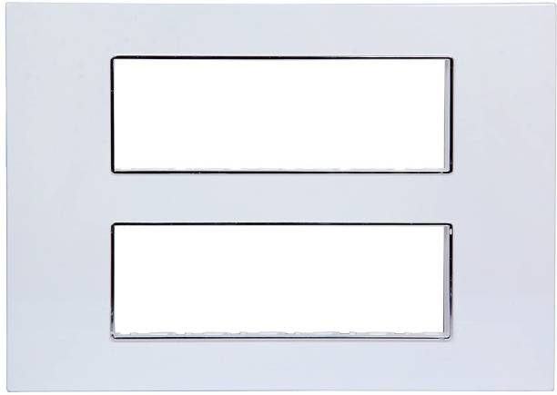 GM 12M Casaviva Plate with Support Frame (Glossy White, Set of 2) Wall Plate