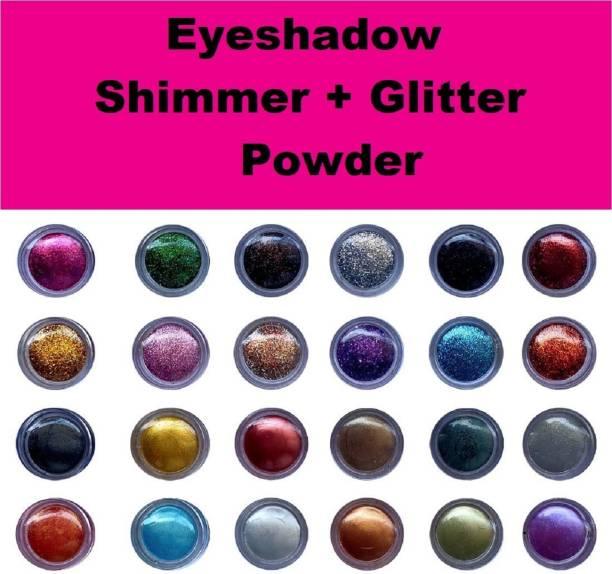 ShopCircuit Multicolor Eyeshadow Shimmer / Glitter Powder 24 Pcs
