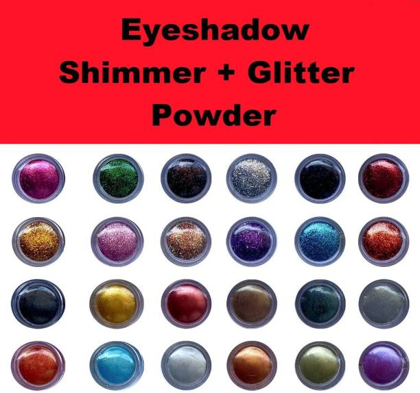 ShopCircuit Multicolor Shining Eyeshadow Shimmer / Glitter Powder 24 Pcs