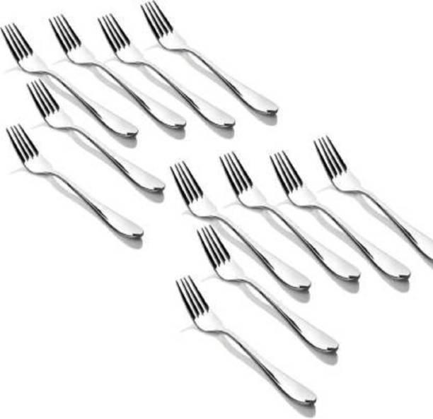 AGS MART stainless steel spoon fork set of 12pcs in cutlery set Steel Dinner Fork Set
