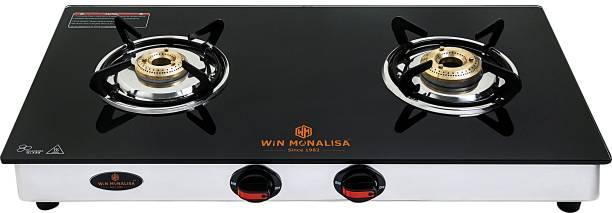 WiN MONALISA Legion 2 Burner Glass Manual Gas Stove
