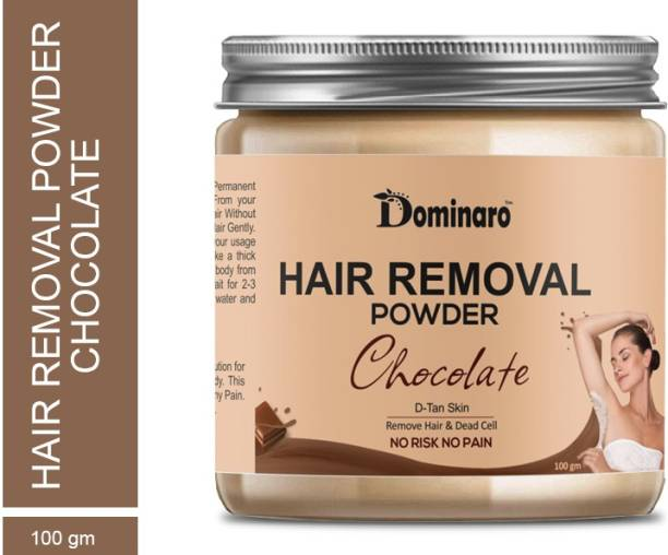Dominaro 100 % Pure Hair Removal Powder (Chocolate Fragrance ) For Underarms, Hand, Legs & Bikini Line Three in one Use For D-Tan Skin, Removing Hair, Remove Dead cell (For Easy Hair Removal No Risk No Pain) Wax