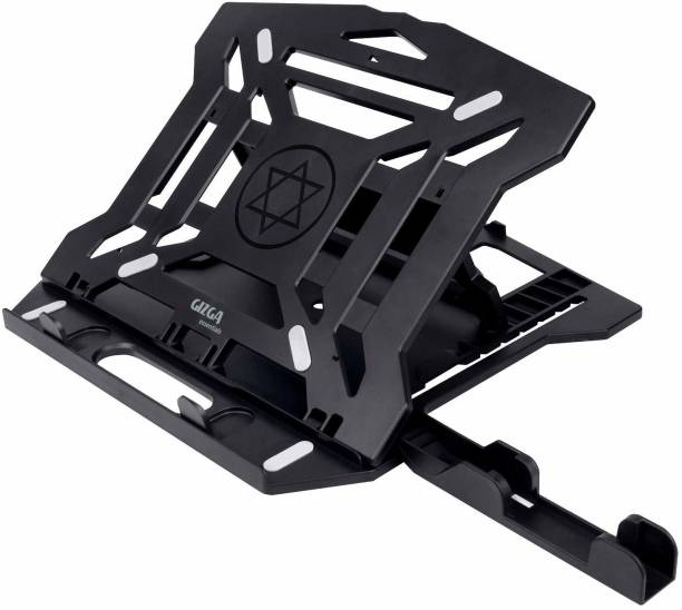 Gizga Essentials 2-in-1 Laptop Stand   8-Adjustable-Angles, Ventilated, Non-Slip, Ergonomic, Portable for All 12-15.6-Inch Laptops Notebook MacBook Air Pro with Mobile Holder Laptop Stand