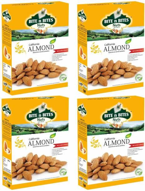 BITE N BITES Roasted & Salted California Almonds Badam 1kg Almonds