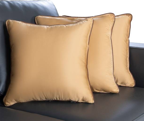 Wakefit Microfibre Solid Cushion Pack of 3