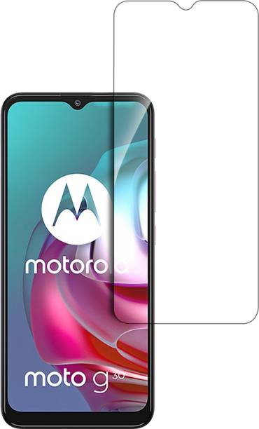 Hupshy Tempered Glass Guard for Motorola Moto G30