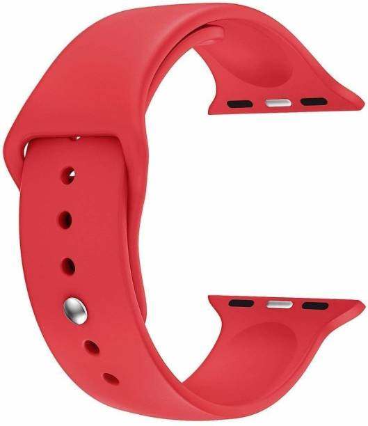 Juberous Soft Silicone Sport 42mm/44mm Band Red Smart Watch Strap