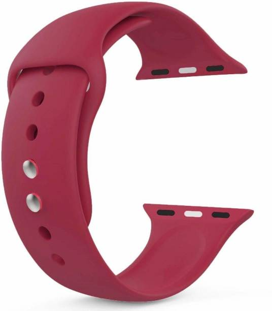 Frazil Soft Silicone Sport 38mm/40mm Band Wine Red Smart Watch Strap