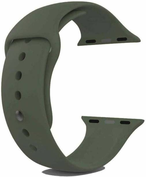 Frazil Soft Silicone Sport 42mm/44mm Band Green Smart Watch Strap