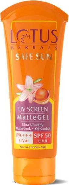 LOTUS HERBALS Safe Sun UV Screen Matte GEL. - SPF 50 PA+++