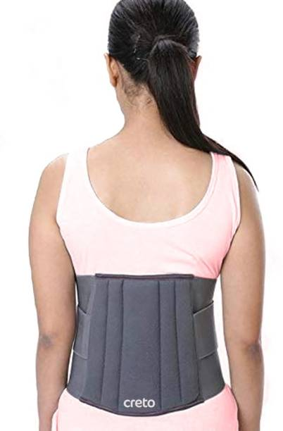 CRETO  L.S belt Unisex Premium For Lower Back Support (grey) Waist Support