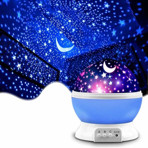 SOLO MART Colorful New Amazing LED Star Light Star,Night Romantic Gift Cosmos Star Sky Master Projector Starry Night Light Projector Lamp for Kids Bedroom (Multicolr) Table Lamp
