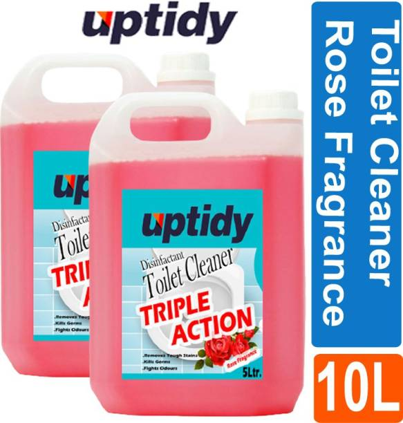 Up tidy Super clean Toilet Bowl Cleaner With Rose Fragrance (Pack of 2) Rose Liquid Toilet Cleaner