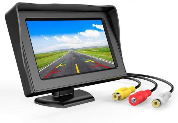 FABTEC 4.3 inch Dashboard Standing LCD TFT Monitor Display for Car Dashboard Vehicle Camera System