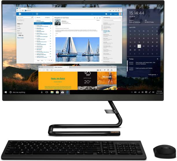 Lenovo Ideacentre Core i5 (10th Gen) (8 GB DDR4/1 TB/Windows 10 Home/23.8 Inch Screen/Ideacentre A340-24IWL) with MS Office