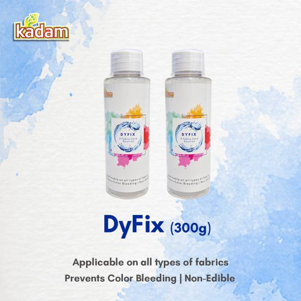 KADAM DyFix (300g) Fabric Care Solution, Dye Fixative Agent, 2 Bottles (150g each)