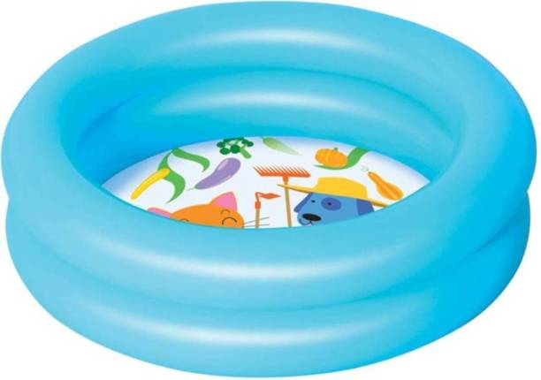 Bestway Round 2-Ring Kiddie Pool (Blue)