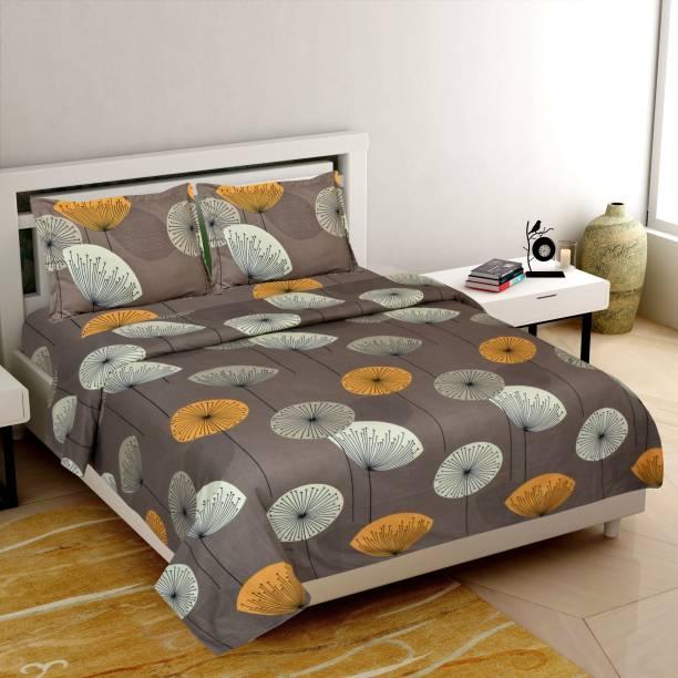 fabborn 145 TC Cotton Double Floral Bedsheet