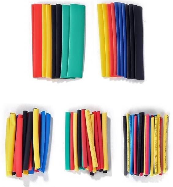 ALEAF 101 Pieces Polyolefin Heat Shrink Tube for Wire Insulation, Cable Sleeves Wrap, Multi Colors and Sizes - Charging Cable Repair Sleeves - 45mm Long Heat Shrink Cable Sleeve