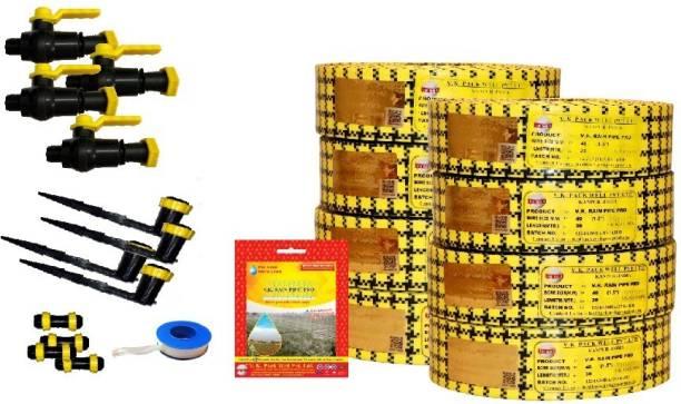 VK Sarvottam Rain Pipe irrigation System PRO Compatible with HDPE sprinkler Quick Coupled - 1500 sq.m (19 MM) Drip Irrigation Kit