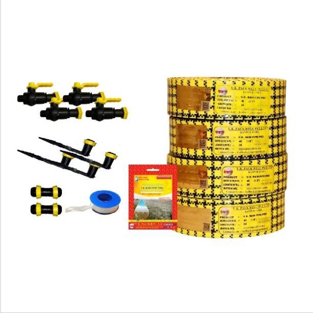 VK Sarvottam Rain Pipe Irrigation System PRO Compatible with HDPE Sprinkler Quick Coupled - 750 Sq m. (19 MM) Drip Irrigation Kit