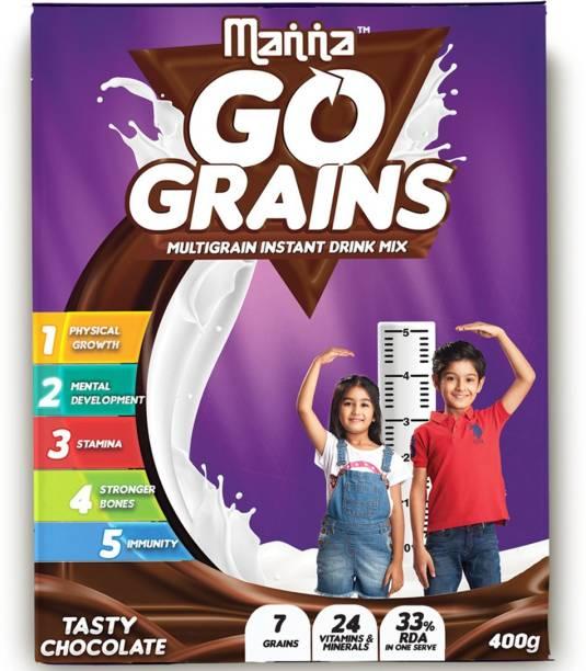 Manna Go Grains - Instant Multigrain Growth & Immunity Drink for Kids Nutrition Drink