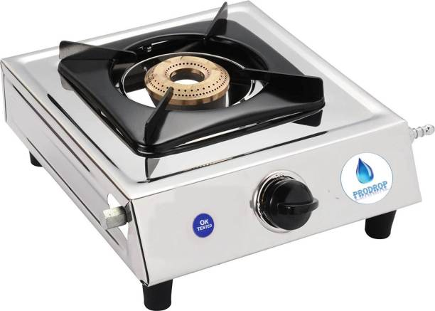 Prodrop gas chulha with lighter set Stainless Steel Manual Gas Stove