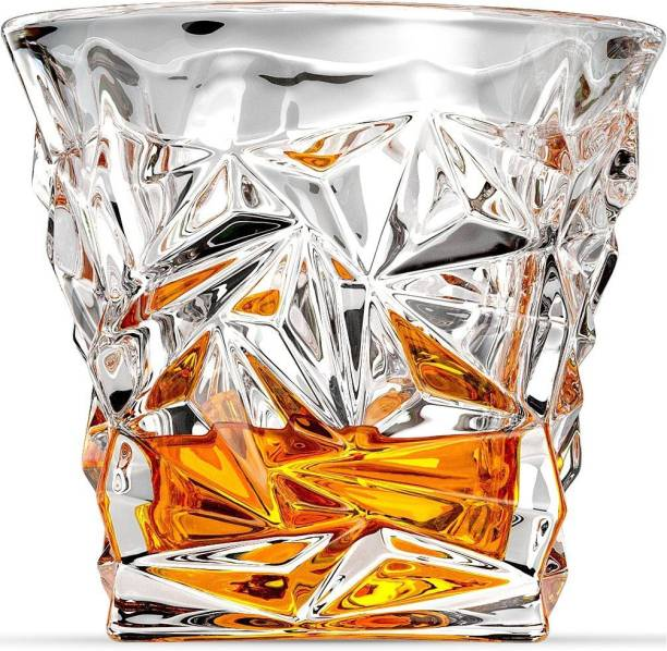 Staify (Pack of 6) Diamond Whiskey Glasses, Old Fashioned Glasses Glass Set