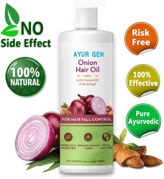 Ayurgenharbal 100% Pure Onion Oil for Hair Regrowth & Hair Fall Control Hair Oil/ hair fall Control oil Hair Oil