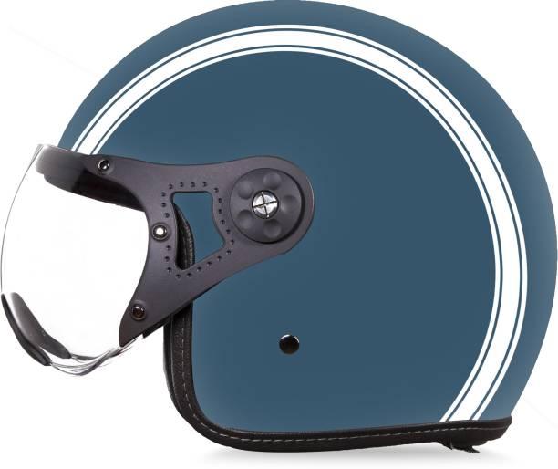 Steelbird SB-40 Dot Stripe Open Face Helmet, DOT Certified Helmet Motorbike Helmet