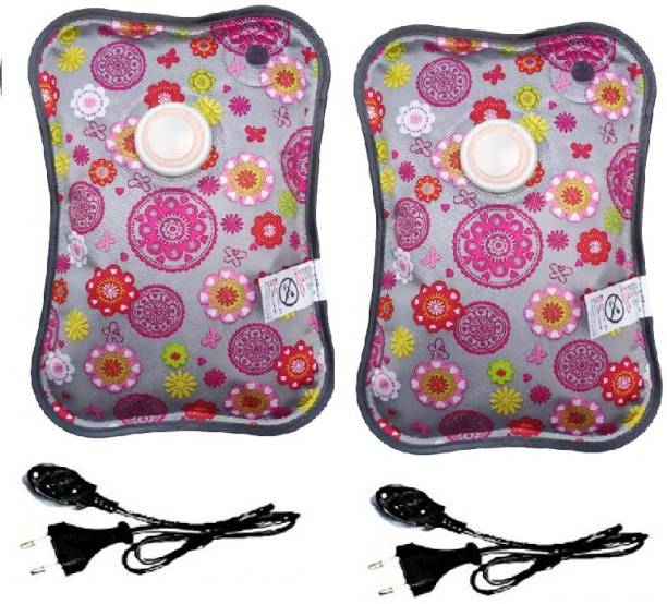 AAFOS Electric Heat Bag Pain Relief Heating Pad Hot Water Bottle Pouch Massager In Many Designs & Colors Electrical 1 L Hot Water Bag (Multicolor) pack of 2 Hot Water Bottle 1 L Hot Water Bag