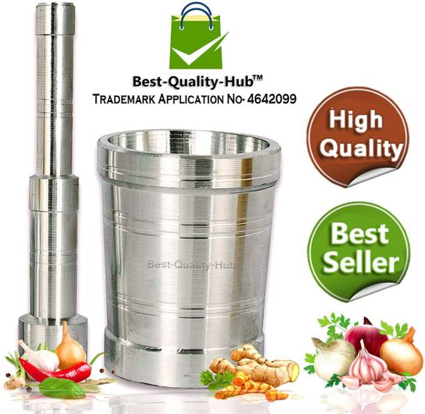 Best Quality Hub Aluminium Mortar Pestle Set Steel Khalbatta/Khallad for Kitchen Steel Masher