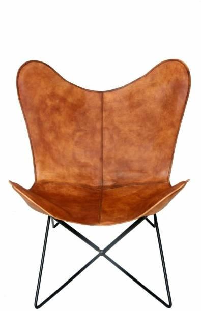KRISHANA HANDICRAFT Leather Outdoor Chair