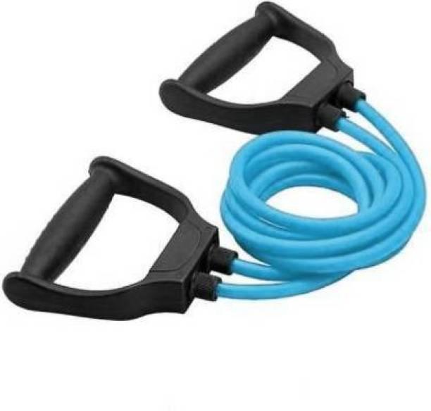 EMMKITZ Rope Rubber Bands for Fitness Exercise Resistance Tube (Blue) Resistance Tube