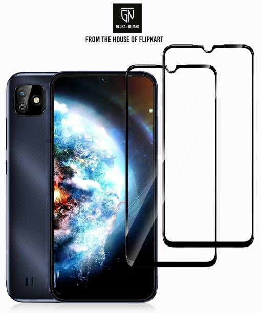 GLOBAL NOMAD Edge To Edge Tempered Glass for Gionee Max, Realme C2, OPPO A1K, Infinix Smart HD 2021