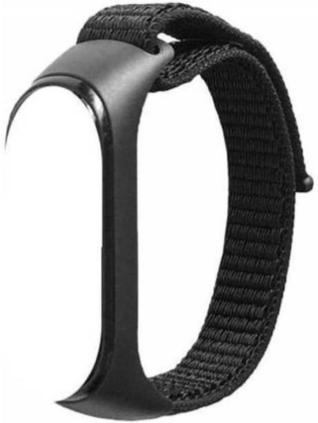 TECHWIND Nylon Wristband Strap for Xiaomi Mi Band 3/4 Adjustable Velcro Nylon Sport Wristband Synthetic Fabric Strap Smart Band Strap Smart Band Strap