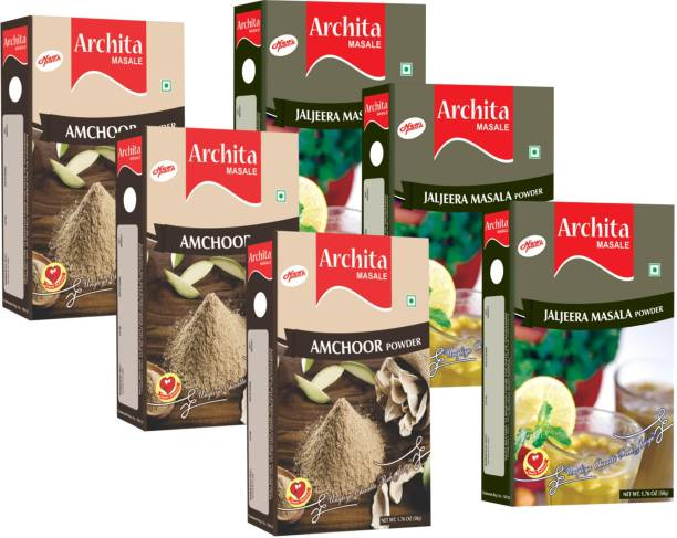 Archita Amchoor Powder(50g x 3) & Jaljeera Masala Powder(50g x 3) Pack of 6
