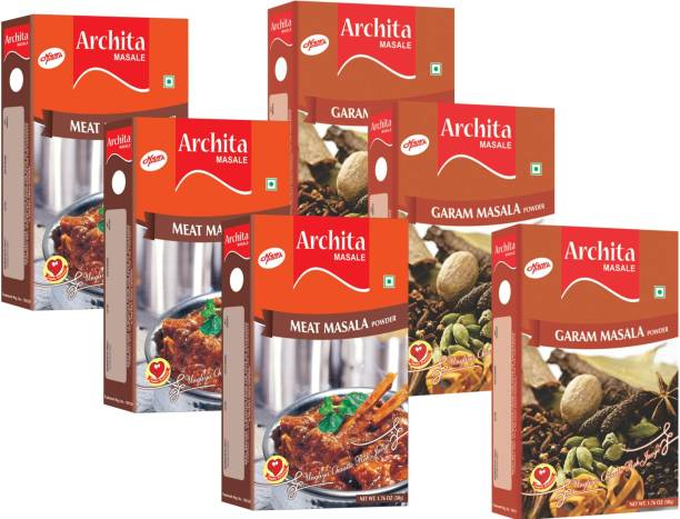 Archita Garam Masala Powder(50g x 3) & Meat Masala Powder(50g x 3) Pack of 6