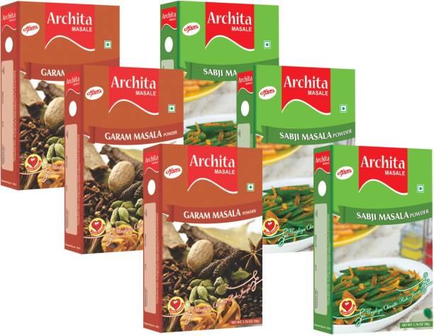Archita Garam Masala Powder(50g x 3) & Sabji Masala Powder(50g x 3) Pack of 6