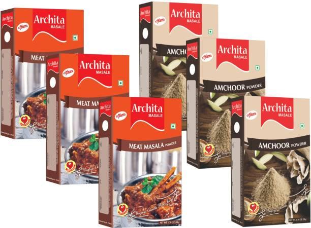 Archita Amchoor Powder(50g x 3) & Meat Masala Powder(50g x 3) Pack of 6
