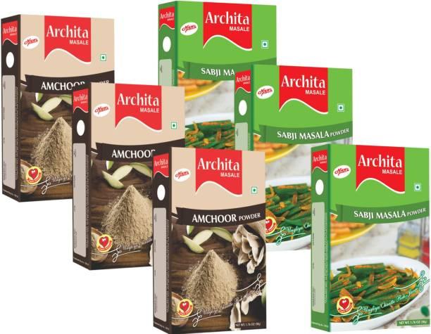 Archita Amchoor Powder(50g x 3) & Sabji Masala Powder(50g x 3) Pack of 6